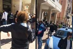 La protesta dei parrucchieri a Barletta