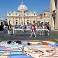 Tutto pronto per l'Infiorata Storica di Roma