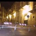 Cedimento del manto stradale in via Matteotti