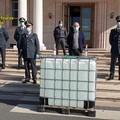 Devoluti 22.500 litri di alcol etilico alla Protezione Civile di Milano