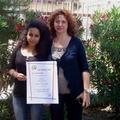 """Menzione speciale al concorso """"Con i piedi per terra"""" per Hajar  Zemrani"""