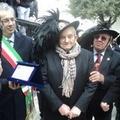 Il Tricolore nazionale dei Bersaglieri di Puglia sventola tra le piume di 95 anni a Canosa di Puglia