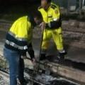 Il Gruppo Operativo Emergenze di Canosa di Puglia interviene per la messa in sicurezza del binario
