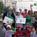 Al Cortile d'Onore del Quirinale alunni della Scuola di Canosa di Puglia