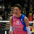 Stefania Sansonna in volo per gli Europei
