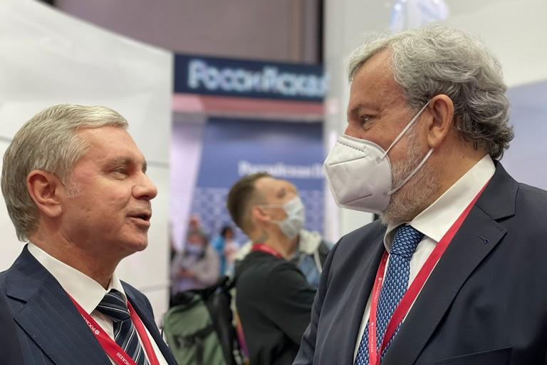 Emiliano con ministro salute Russia