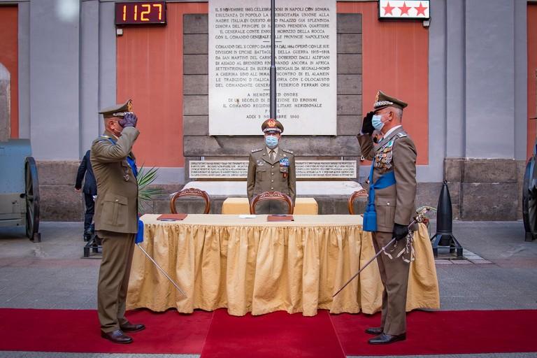 Generale di Corpo d'Armata Giuseppenicola Tota  Passaggio consegne