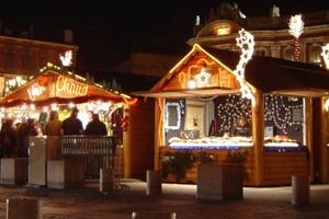Natale casette in legno