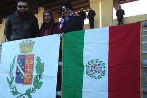 Tricolore su spalti Canosa Calcio