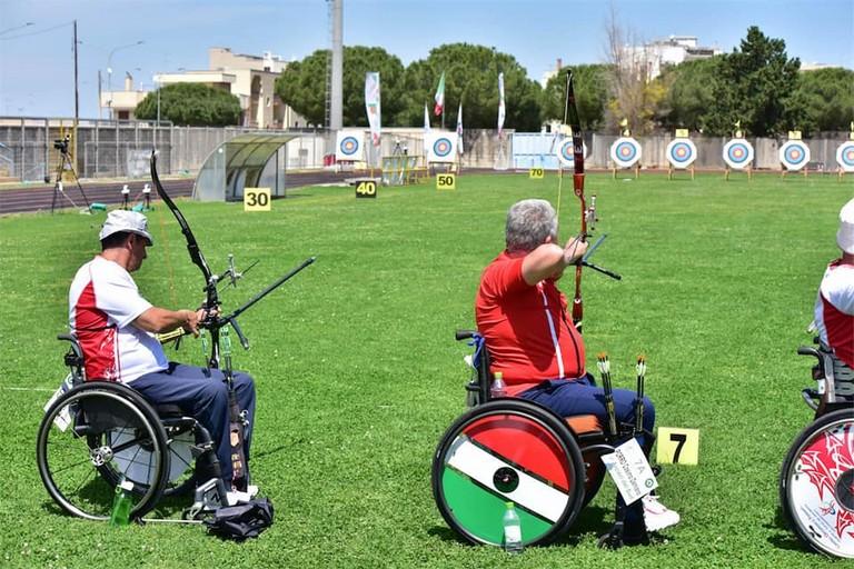 Mimmo Porro al Campionato Italiano Outdoor Para-Archery