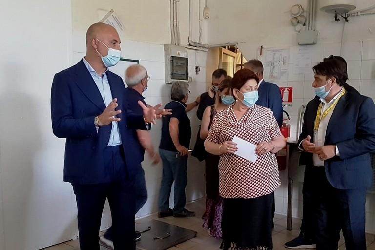 Ministro Agricoltura Teresa Bellanova- Pres. Coldiretti Puglia, Savino Muraglia