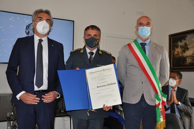 Prefetto Valiante- Carbone Bartolomeo - Vice Sindaco Sanluca