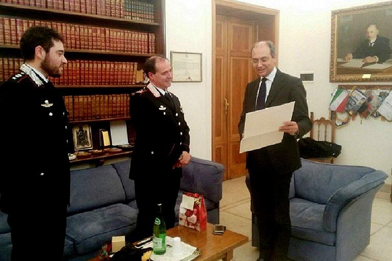 Riconoscimento Luogotenente dei Carabinieri Michele Caputo