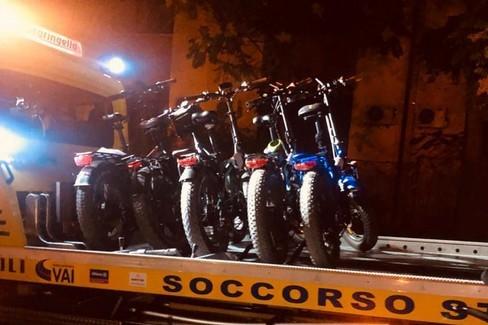 Sequestri biciclette elettriche