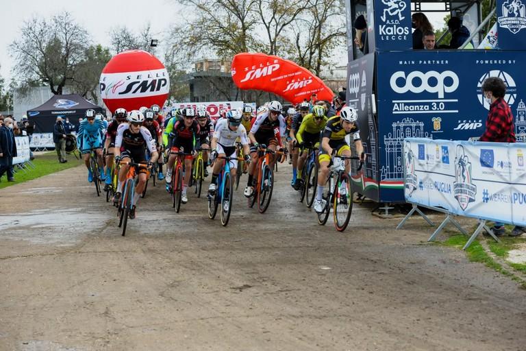 Lecce Tricolori Ciclocross  partenza gara élite