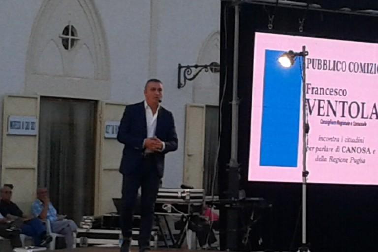 Francesco Ventola comizio luglio 2018