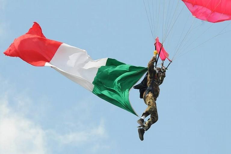 LANCIO Paracadutisti Bandiera Tricolore